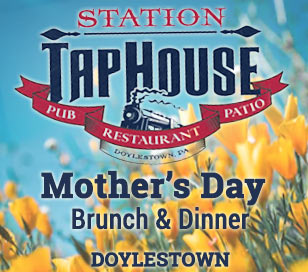 Celebrate Mom at the Station Tap House in Doylestown! We are now taking Mother's Day reservations for both our buffet brunch and pre-fixe evening menu. Make your reservation with our host staff today, and treat Mom to the best this year! Brunch Buffet: $28.95 per adult $22.95 for seniors $16.95 for kids up to age 14 Kids 4 and under eat free! Three-Course Pre-Fixe Dinner (regular menu also available): $32 per person Call 215.348.1663 to make your reservations today!