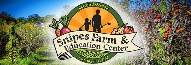 Snipes Farm and Education Center is a grass roots, non-profit organization whose mission is to model and teach sustainable farming, build community and reconnect people to the land.  Our historic, working farm provides all natural farm products to over 300 local families through our Community Supported Agriculture program.  We also provide education and camp programs that serve more than 4,000 children annually.  Visitors and program participants come to learn sustainable practices, how healthy food is grown and the value of being responsible stewards of our natural resources.